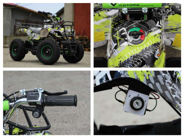 Mini ATV electric pentru copii NITRO Torino Quad 1000W 48V #Verde 6