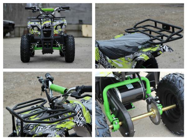 Mini ATV electric pentru copii NITRO Torino Quad 1000W 48V #Verde 7