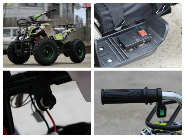 Mini ATV electric pentru copii NITRO Torino Quad 1000W 48V #Verde 8