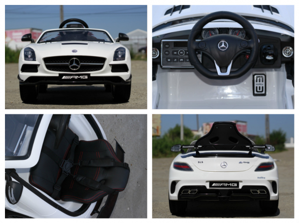 Masinuta electrica Mercedes SLS AMG PREMIUM #ALB 6