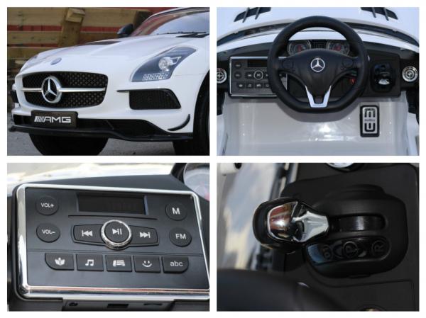 Masinuta electrica Mercedes SLS AMG PREMIUM #ALB 7