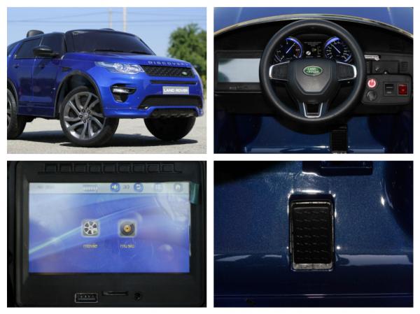Masinuta electrica Land Rover Discovery DELUXE cu Touchscreen Mp4 #Albastru 8