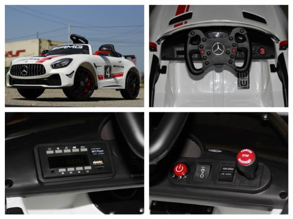Masinuta electrica Mercedes GT-R 2x25W STANDARD #Alb 8