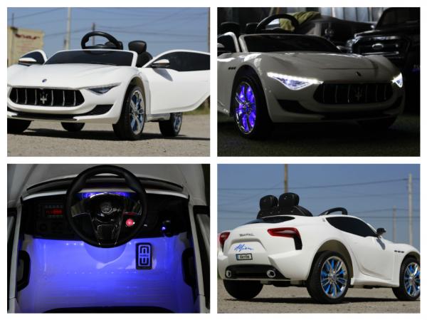 Masinuta electrica Maserati Alfieri CU ROTI MOI 12V 2x35W #Alb 7