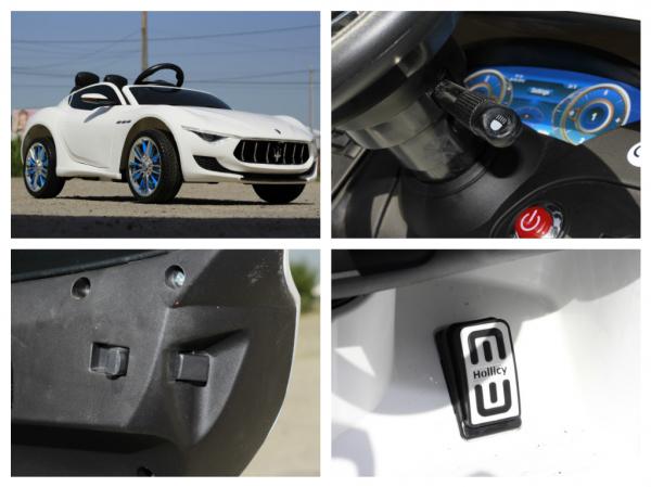 Masinuta electrica Maserati Alfieri CU ROTI MOI 12V 2x35W #Alb 8