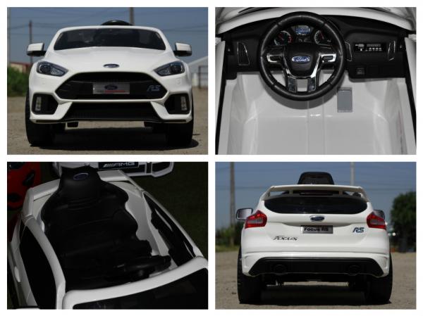 Masinuta electrica Ford Focus RS alb, copii 2-7 ani 7