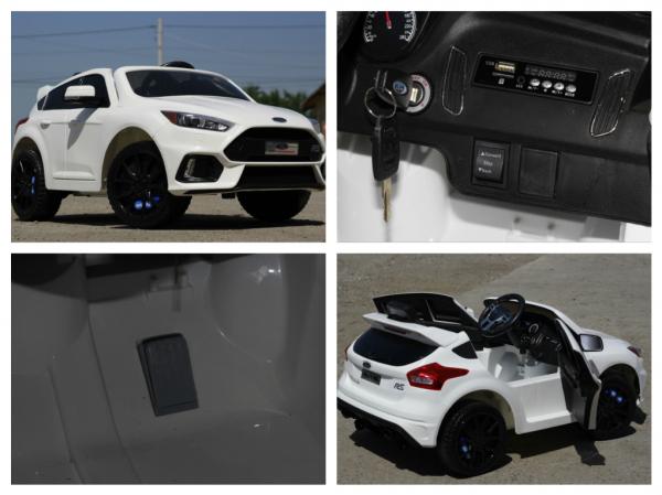 Masinuta electrica Ford Focus RS CU ROTI MOI #Alb 8