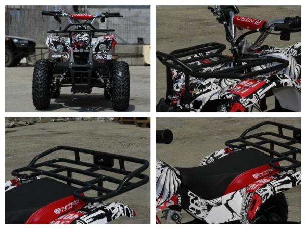 Mini ATV electric pentru copii NITRO Torino Quad 1000W 48V #Alb 6