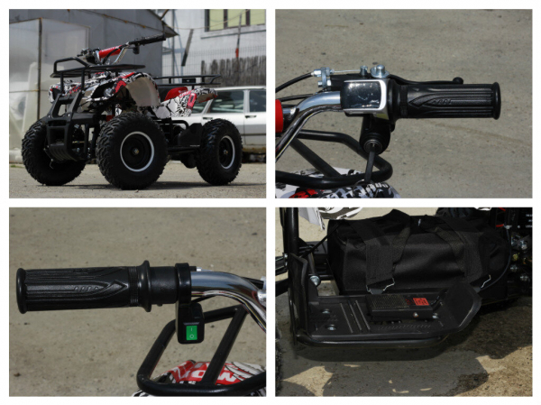 Mini ATV electric pentru copii NITRO Torino Quad 1000W 48V #Alb 7