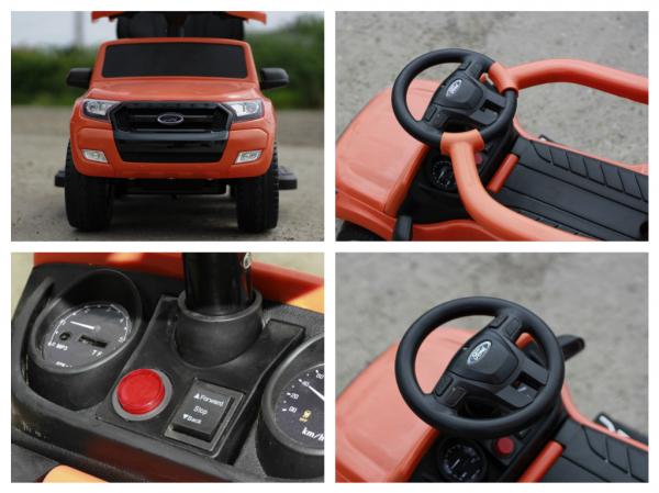 Carucior electric pentru copii 3 in 1 Ford Ranger STANDARD #Orange 7