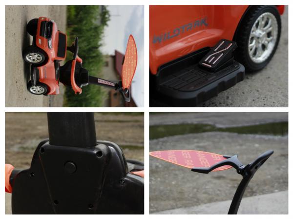 Carucior electric pentru copii 3 in 1 Ford Ranger STANDARD #Orange 8