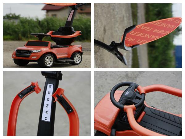 Carucior electric pentru copii 3 in 1 Ford Ranger STANDARD #Orange 5