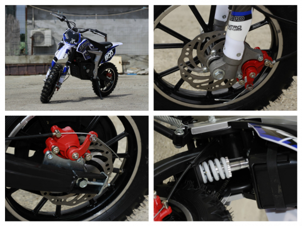 Mini Motocicleta Eco Ghepard 500W 24V #Albastra 6