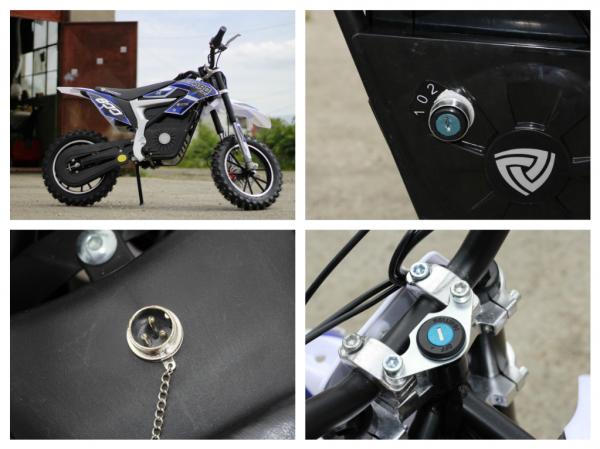 Mini Motocicleta Eco Ghepard 500W 24V #Albastra 7