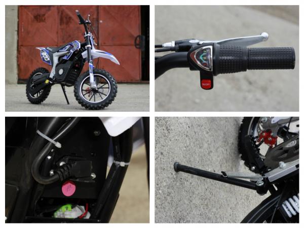 Mini Motocicleta Eco Ghepard 500W 24V #Albastra 8
