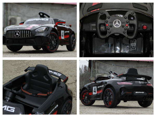 Kinderauto Mercedes GT-R 2x25W STANDARD #Negru 6