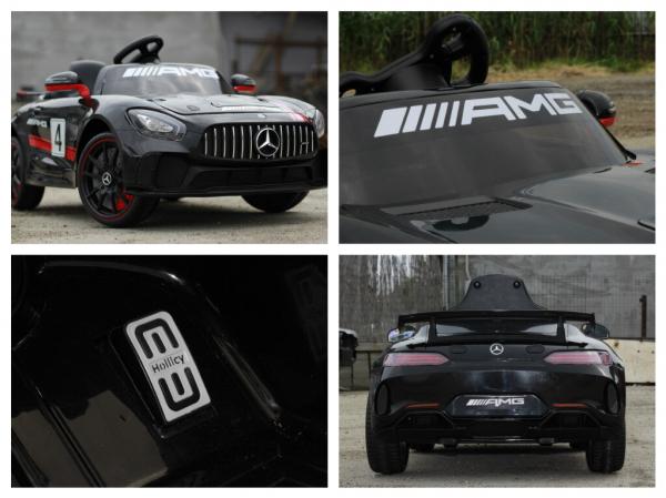 Masinuta electrica Mercedes GT-R 2x25W STANDARD #Negru 7