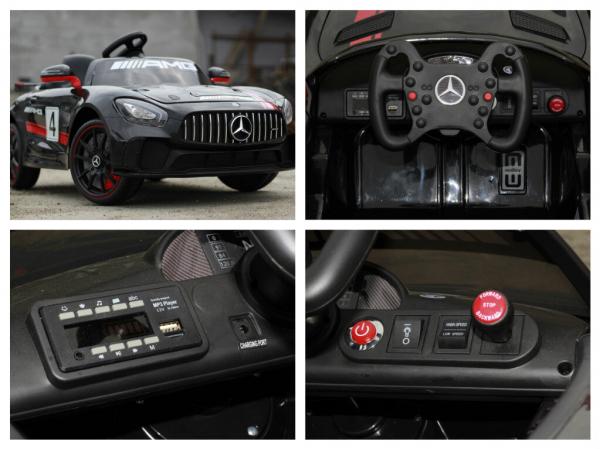 Kinderauto Mercedes GT-R 2x25W STANDARD #Negru 8