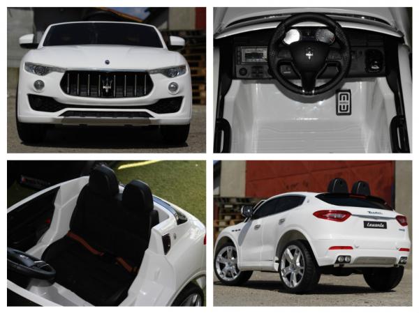 Maserati Levante, masinuta electrica pentru copii, alba 6
