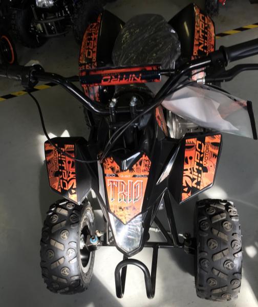 Mini ATV electric Pentru copii NITRO Eco Trio Quad 350W 24V #Portocaliu 6