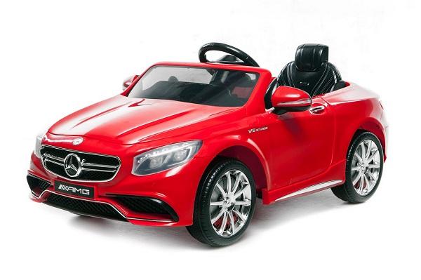 Masinuta electrica Mercedes S63 12V PREMIUM #ROSU 0