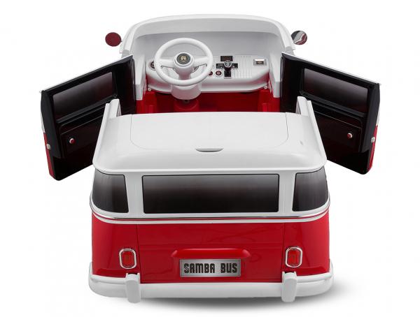 Masinuta electrica VW Samba Bus 2x45W, PREMIUM #Rosu 3