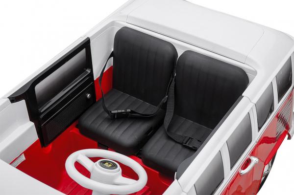 Masinuta electrica VW Samba Bus 2x45W, PREMIUM #Rosu 4