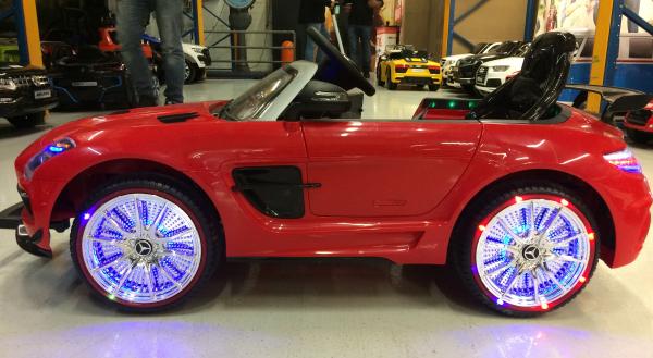 Masinuta electrica Mercedes SLS STANDARD 2x 25W 12V # Rosu 14