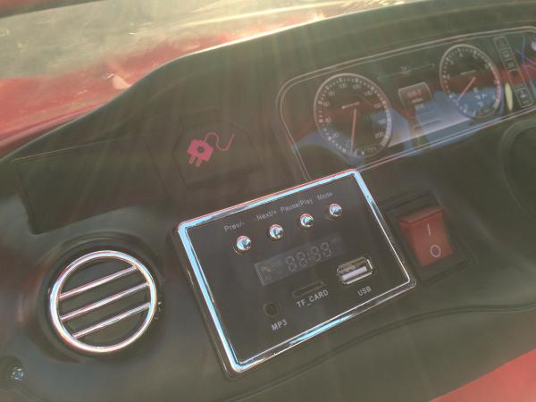 Masinuta electrica Mercedes S63 12V PREMIUM #ROSU 6