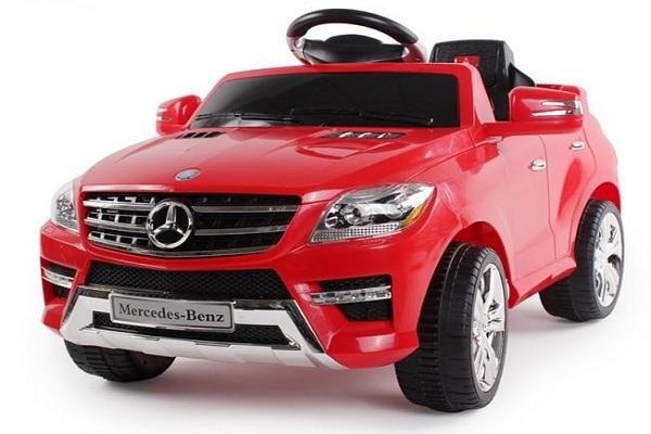 Masinuta electrica rosie Mercedes ML, copii 2-4 ani 0