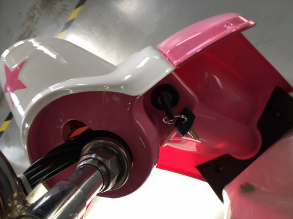 Scuter electric pentru copii NITRO ECO Retro 350W 24V 6.5 inch #Roz 8