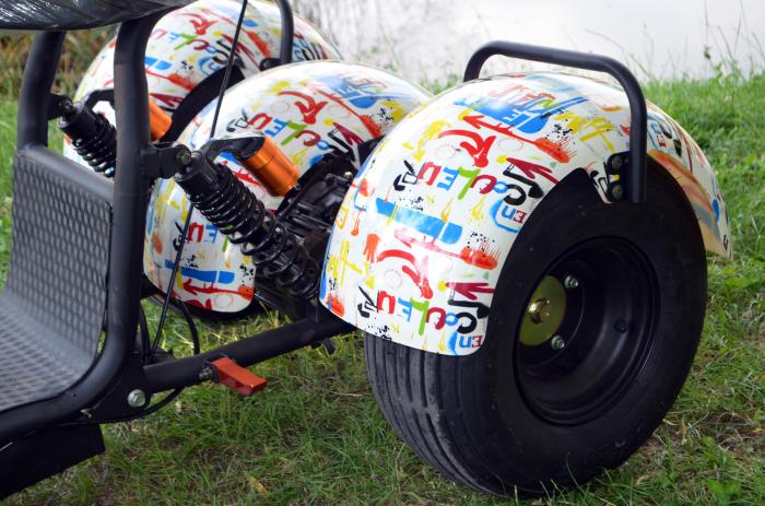 Scuter electric cu 3 roti Solley SMD-103 #Grafiti cu 2 locuri, putere 2000W, baterie 60V 20Ah [4]