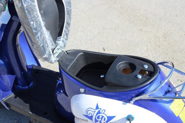Scuter electric pentru copii NITRO ECO Retro 350W 24V 6.5 inch #Albastru 9