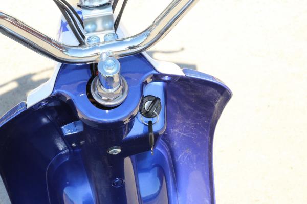 Scuter electric pentru copii NITRO ECO Retro 350W 24V 6.5 inch #Albastru 7