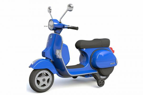 Scuter electric pentru copii Piaggio PX150 PREMIUM #Albastru 0