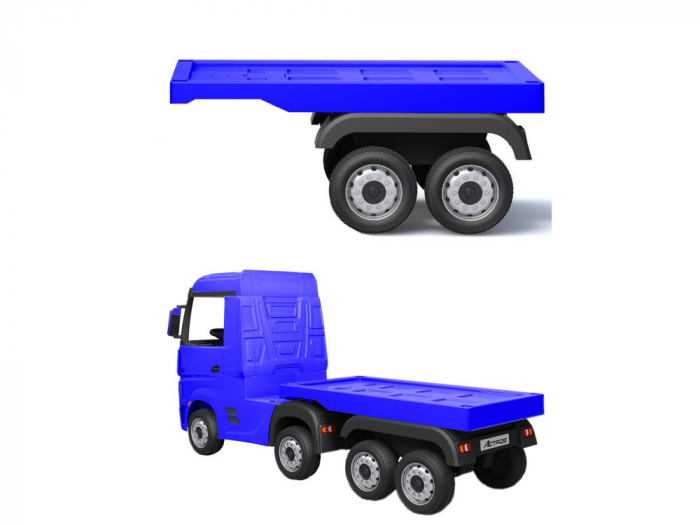Semiremorca pentru camion electric Mercedes Actros Albastru