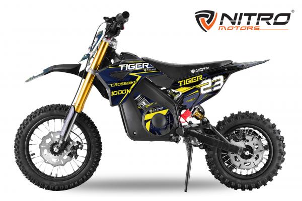 Motocicleta electrica Eco Tiger 1000W 36V 12/10 #Albastru 0