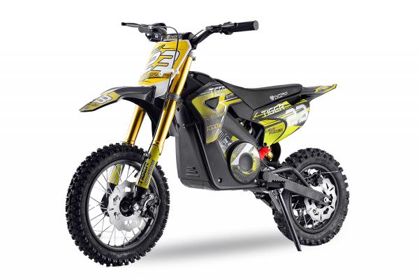 Motocicleta electrica Eco Tiger 1000W 36V 12/10 #Galben 0