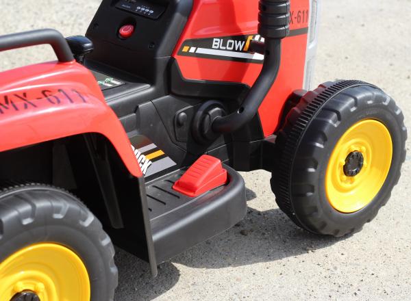 Tractoras electric BJ-611 cu remorca si telecomanda STANDARD #Rosu 7