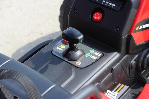 Tractoras electric BJ-611 cu remorca si telecomanda STANDARD #Rosu 5
