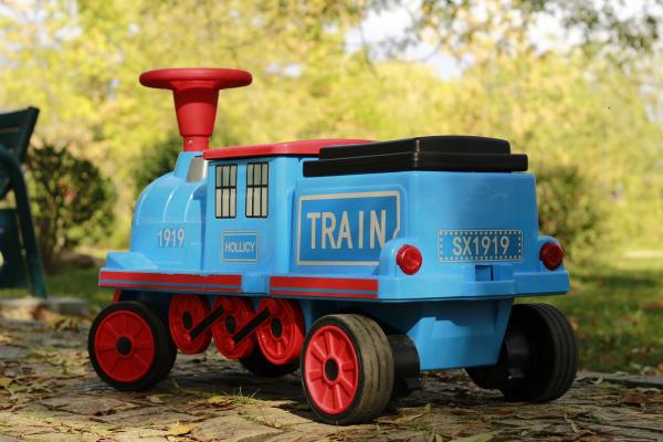 Trenulet electric pentru copii SX1919 90W 12V STANDARD #Albastru 3