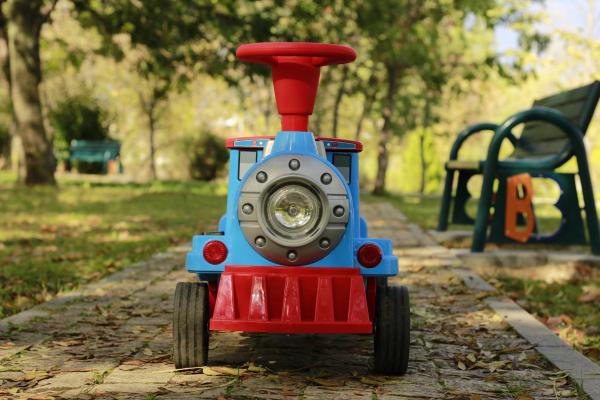 Trenulet electric pentru copii SX1919 90W 12V STANDARD #Albastru 2