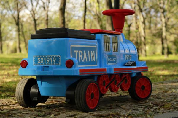 Trenulet electric pentru copii SX1919 90W 12V STANDARD #Albastru 4