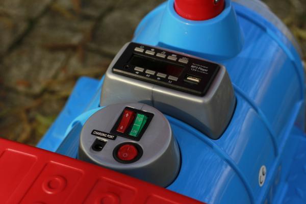 Trenulet electric pentru copii SX1919 90W 12V STANDARD #Albastru 7