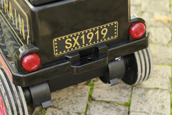 Trenulet electric pentru copii SX1919 90W 12V STANDARD #Rosu 8