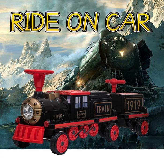 Trenulet electric cu vagon SX1919 12V 180W STANDARD #Rosu 1