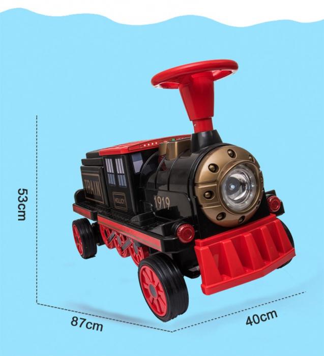 Trenulet electric cu vagon SX1919 12V 180W STANDARD #Rosu 2