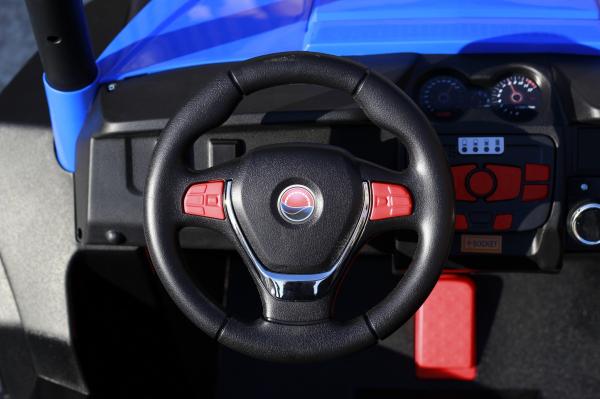 UTV electric pentru 2 copii Golf-Kart 210W 24V PREMIUM #Albastru 6