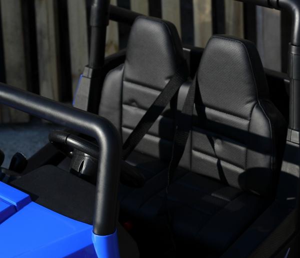 UTV electric pentru 2 copii Golf-Kart 210W 24V PREMIUM #Albastru 5