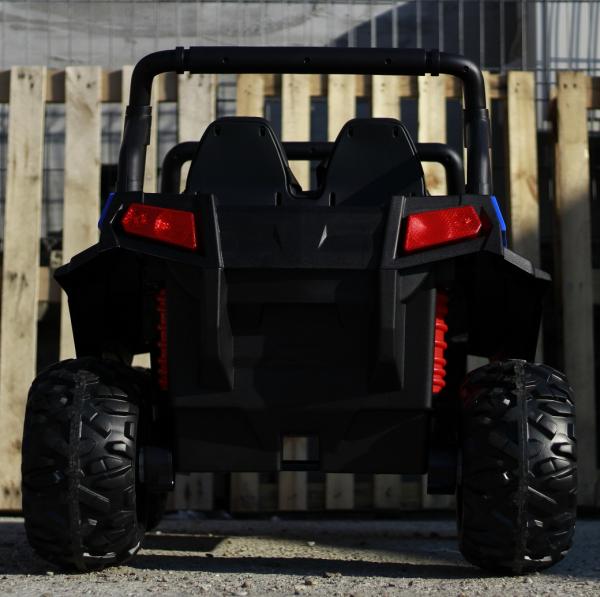 UTV electric pentru 2 copii Golf-Kart 210W 24V PREMIUM #Albastru 3